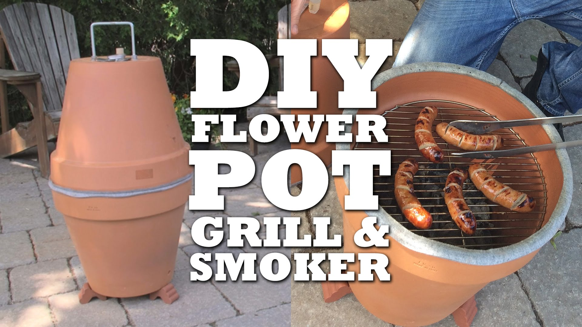 Diy Flower Pot Grill Amp Smoker I Love Grill