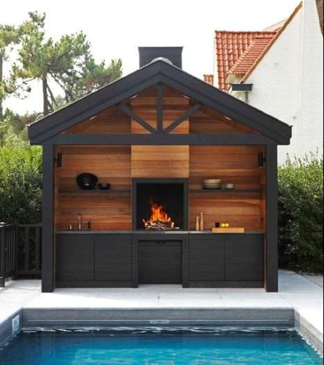 Pictures wooden bbq grill house i love grill - Plan de barbecue exterieur ...