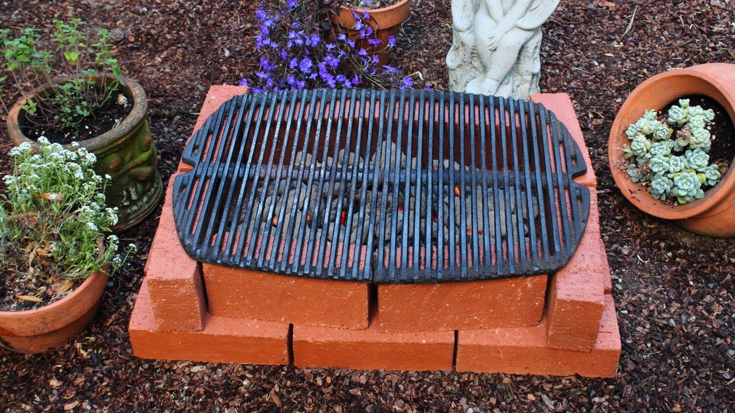 How to make a brick grill i love grill for Easy diy fire pit with grill