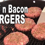 Beef and Bacon 50/50 Burgers