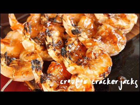 Honey Ginger Barbecue Shrimp Skewers on the Grill - BBQ ...