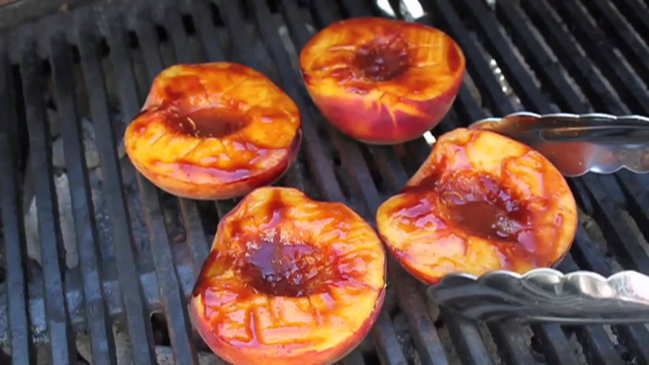 Barbecued Peaches I Love Grill